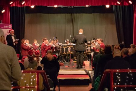 Mablethorpe Rotary Carol Concert 2018 Alford Silver Performing